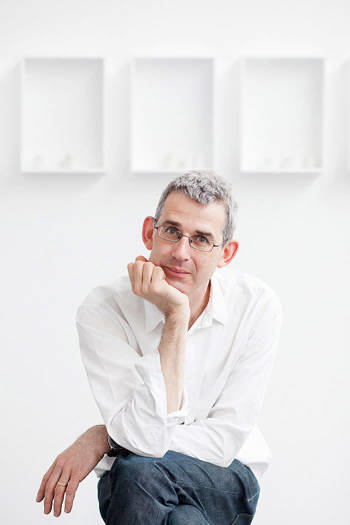 Edmund de Waal in his studio